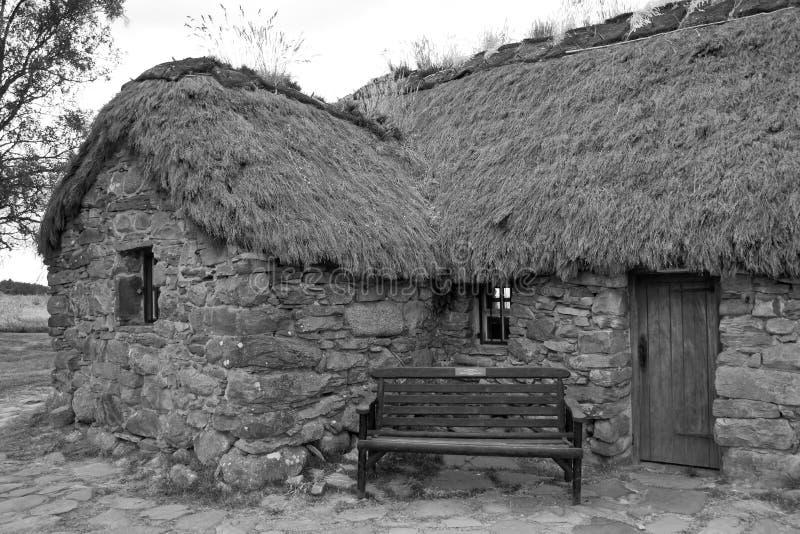 Escócia, culloden, casa de campo velha do leanach foto de stock royalty free