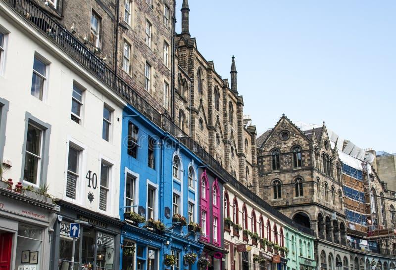 Escócia Reino Unido Edimburgo 14 0 5 2016 - arquitetura Fassade da cidade histórica da cidade fotos de stock