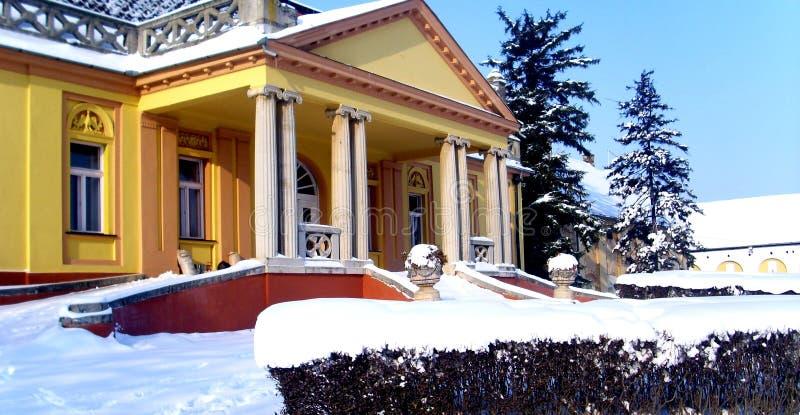 Escúdese el erski del ` de DunÄ, Serbia, invierno, viaje, Kulpin imagenes de archivo