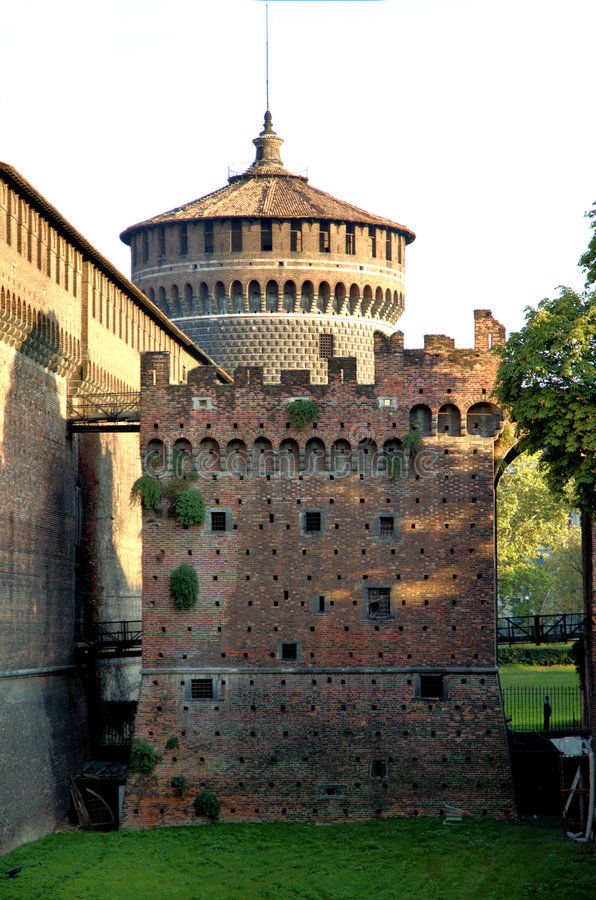 Escúdese en Milano imagen de archivo