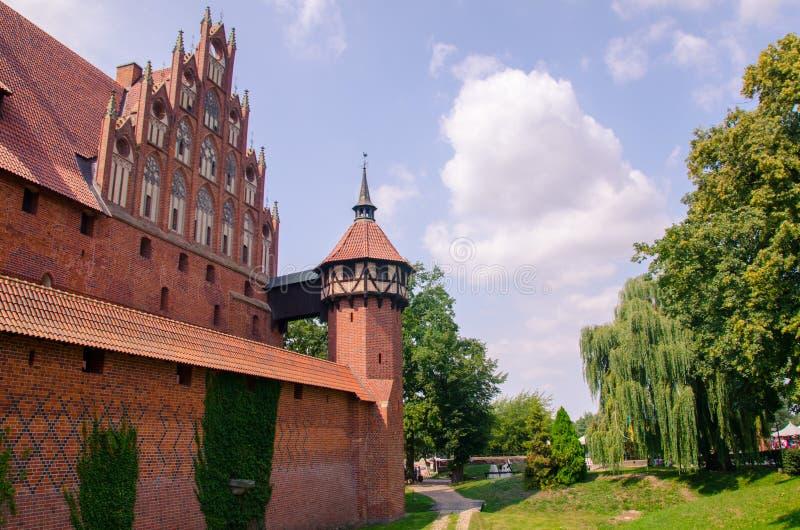 Escúdese los fortalecimientos de la orden teutónica en Malbork Verano imágenes de archivo libres de regalías