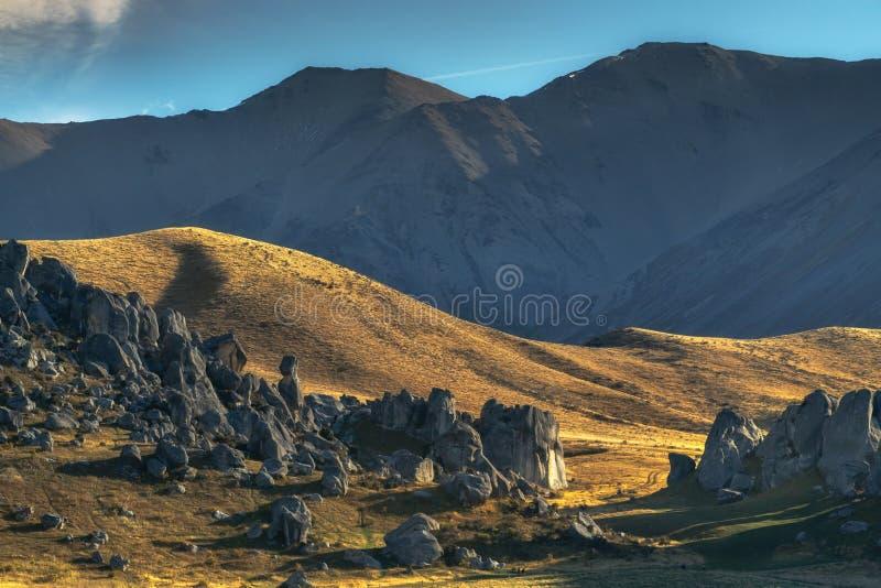Esc?dese la colina, parque nacional del paso del ` s de Arturo fotografía de archivo libre de regalías