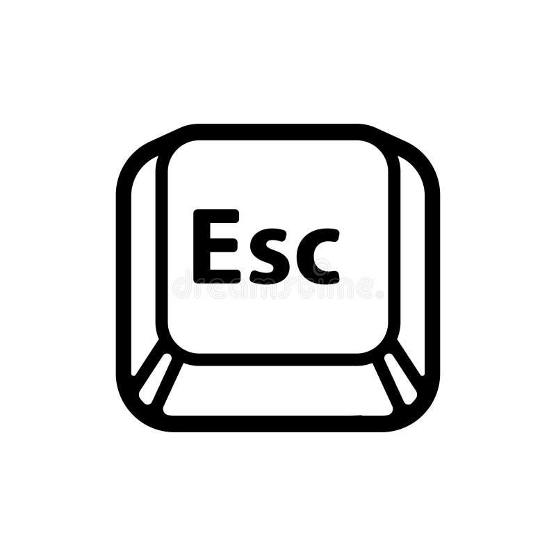 Free Esc Escape Key Icon Royalty Free Stock Photography - 156843057