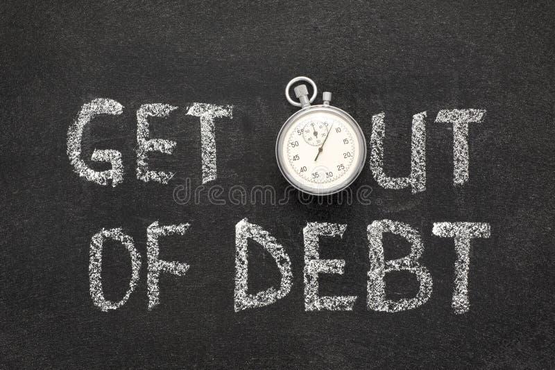 Esca del debito fotografia stock