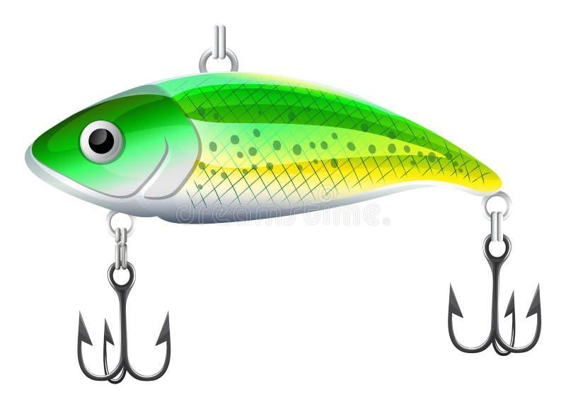 Esca di pesca illustrazione vettoriale