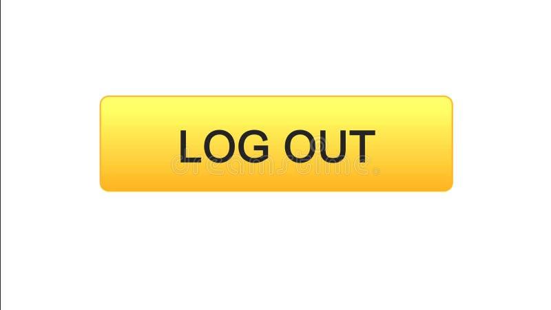 Esca il colore arancio del bottone dell'interfaccia di web, la progettazione del sito internet, l'applicazione illustrazione vettoriale