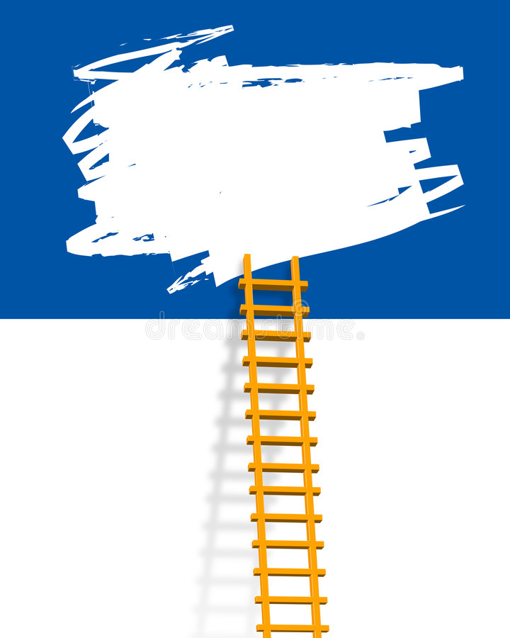 Escada ilustração royalty free