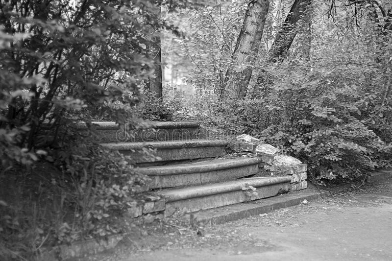 Escada abandonada foto de stock