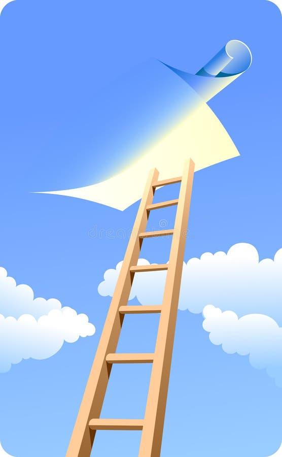 Escada ao céu (dia) ilustração royalty free