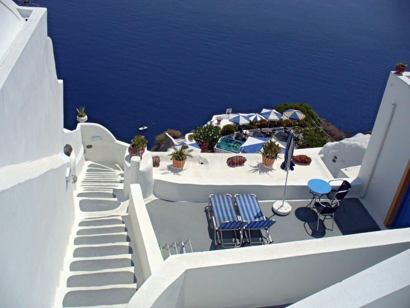 Escada ao mar fotos de stock