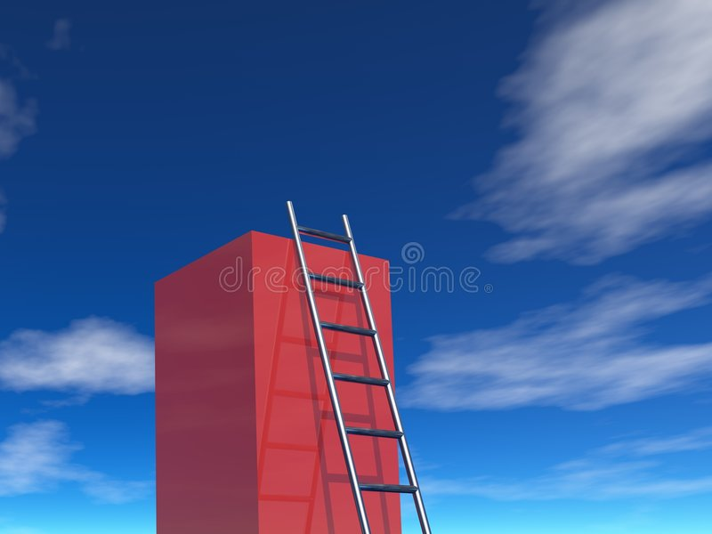 Escada ao sucesso ilustração royalty free