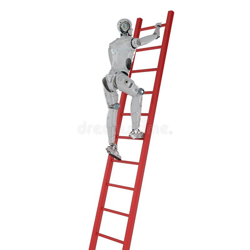 Escada da escalada do robô ilustração do vetor