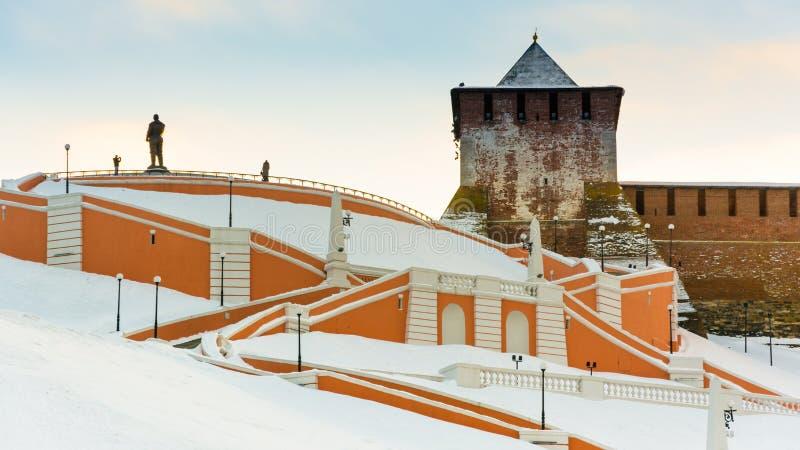 Escada de Chkalovskaya imagens de stock