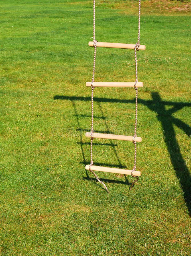 Escada de corda fotografia de stock