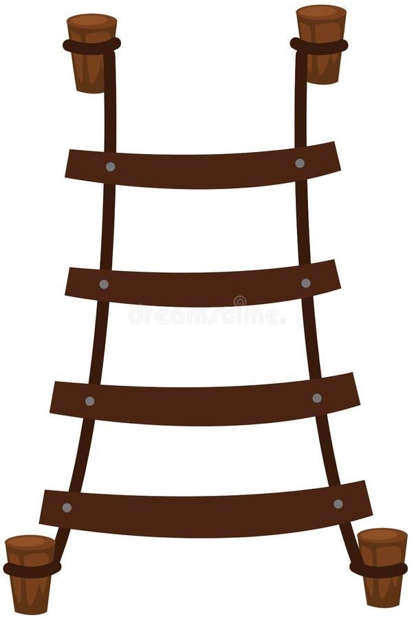 Escada de corda ilustração do vetor