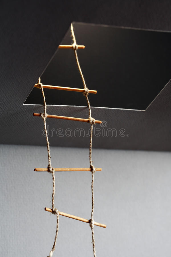Escada de corda imagem de stock