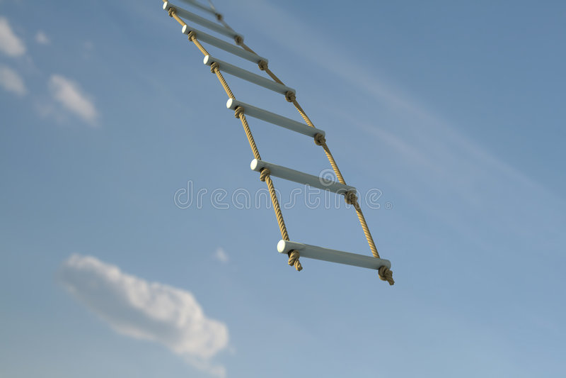 Escada de corda fotos de stock royalty free