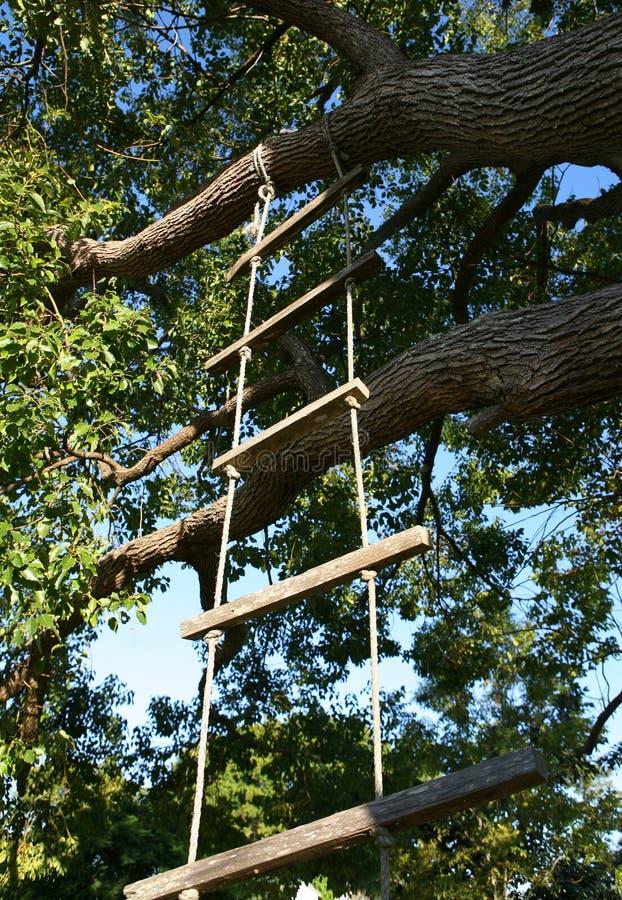 Escada de corda imagens de stock royalty free
