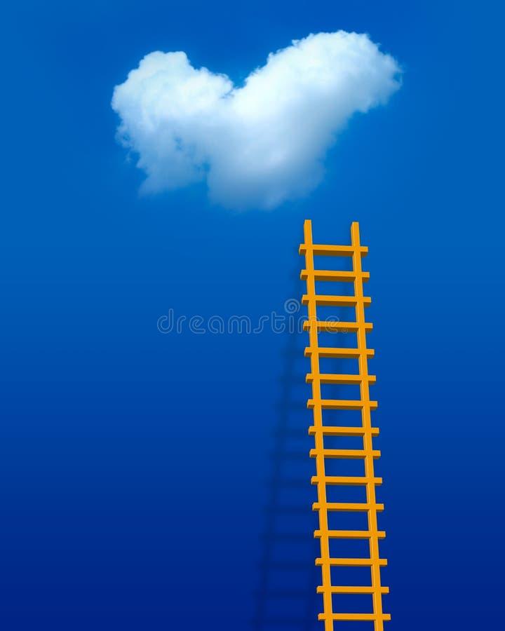 Escada do amor ilustração do vetor