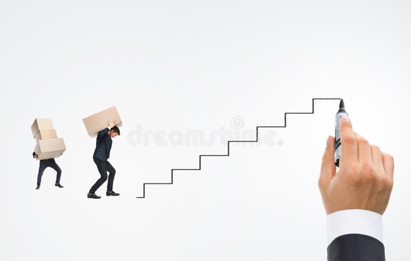 escada do areer do ½ do ¿ do ï do homem novo fotos de stock