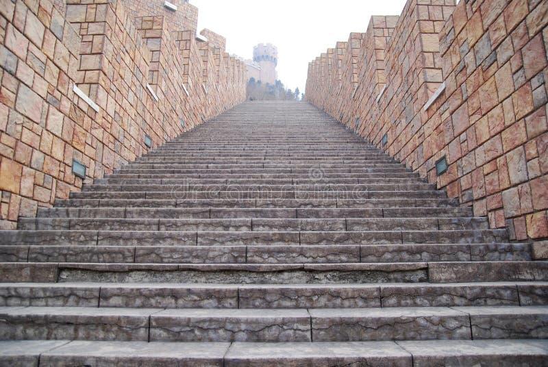 A escada do castelo fotografia de stock