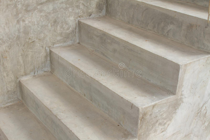 Escada do cimento imagens de stock