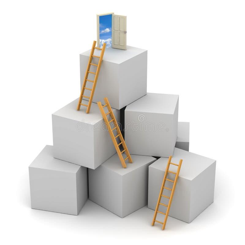 Escada do conceito do sucesso ilustração do vetor