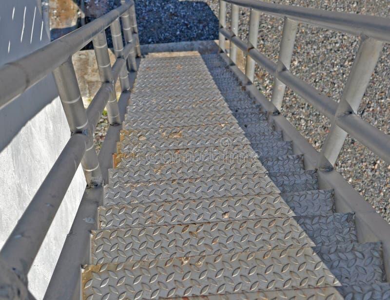 Escada do ferro fotografia de stock