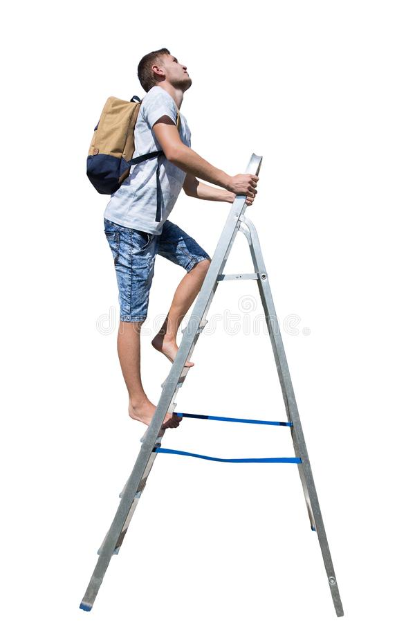 Escada do homem imagens de stock