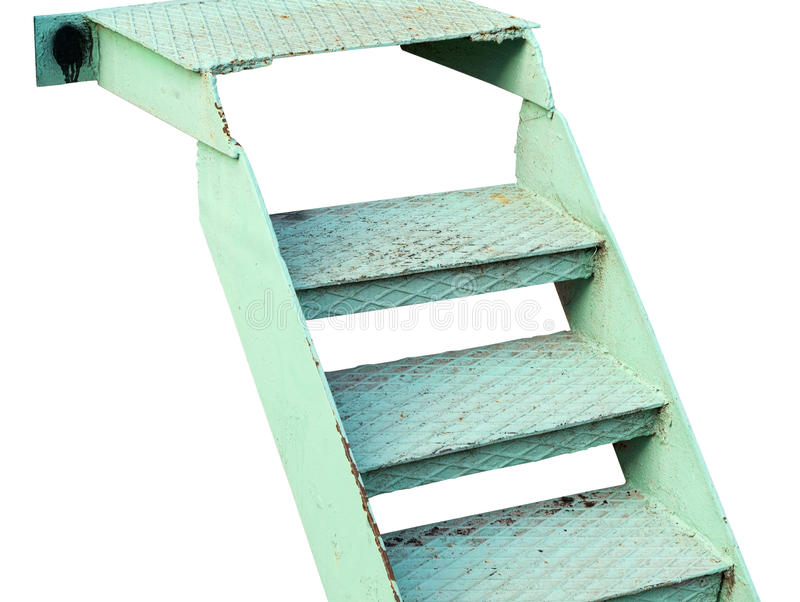 Escada do metal da etapa fotografia de stock royalty free