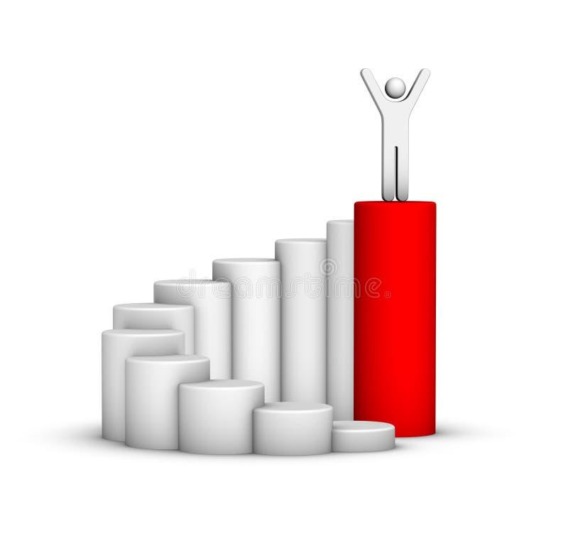 Escada do sucesso ilustração do vetor