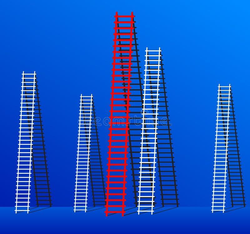 Escada do sucesso. ilustração stock