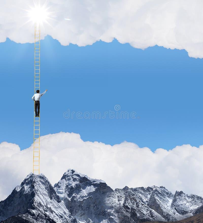 Escada do sucesso imagens de stock royalty free