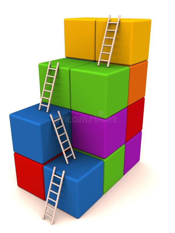 Escada do sucesso da escalada ilustração stock