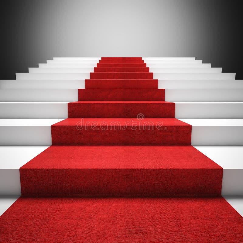 Escada do tapete vermelho fotografia de stock royalty free