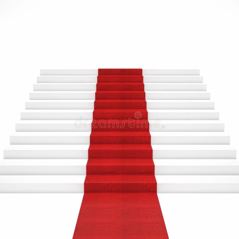 Escada do tapete vermelho imagem de stock royalty free