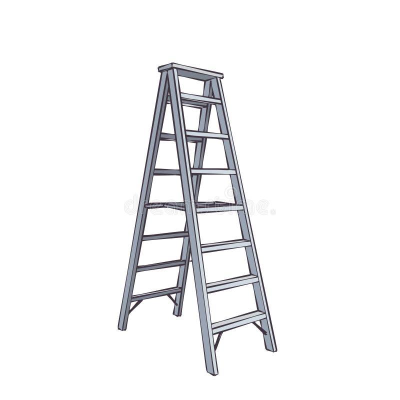 Escada dobro dos desenhos animados ilustração do vetor