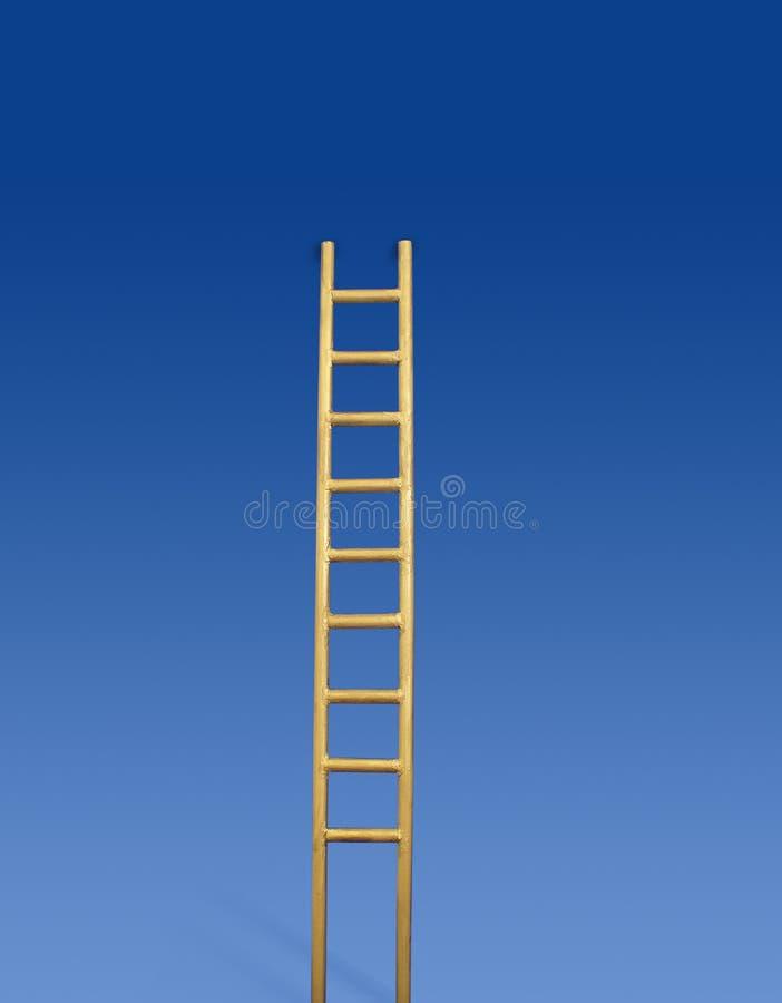 Escada dourada foto de stock royalty free