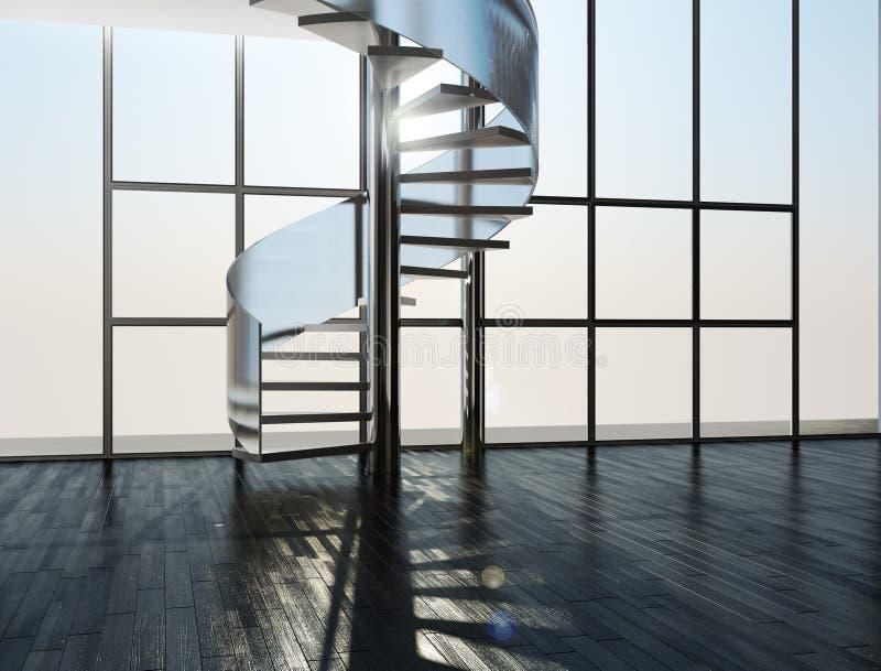 Escada em um interior ilustração royalty free
