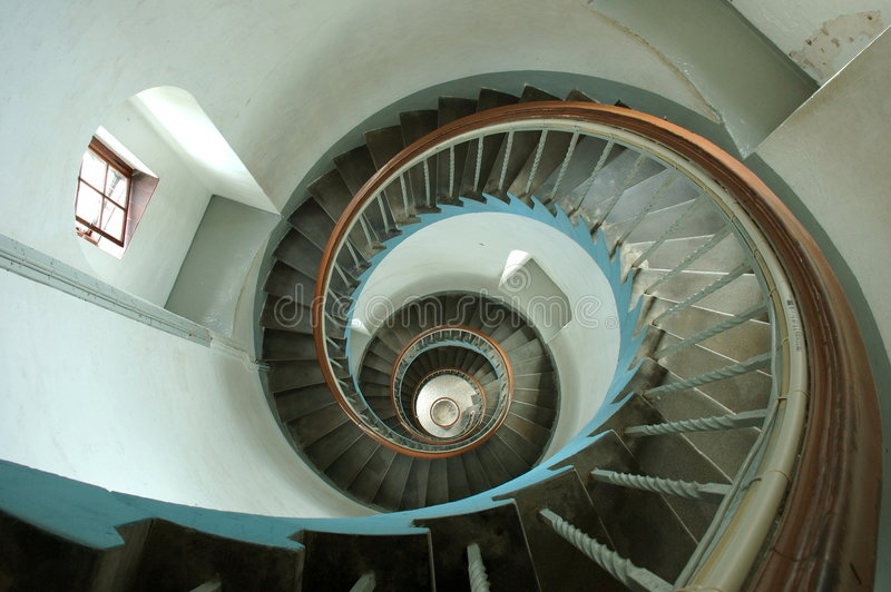 Escada espiral fotos de stock royalty free
