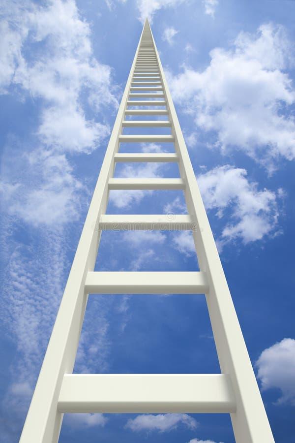Escada infinita branca que vai acima ilustração royalty free