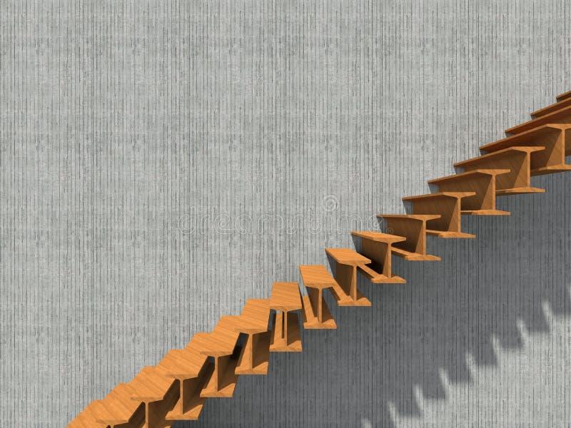 Escada na construção ou na arquitetura do fundo da parede fotos de stock