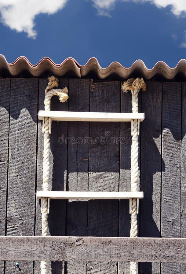 Escada na vertente do pescador imagem de stock