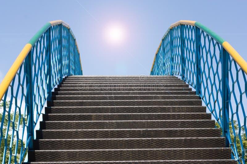 Escada no céu imagem de stock royalty free