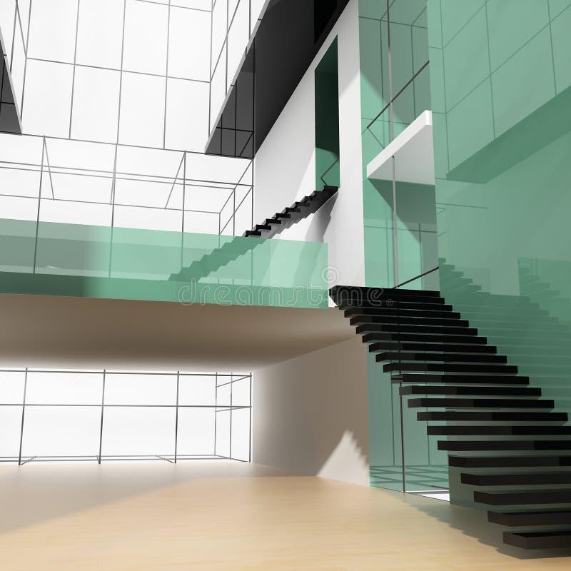 Escada no escritório ilustração stock