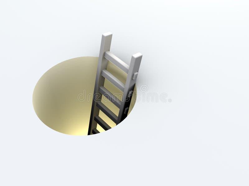 Escada no furo ilustração royalty free