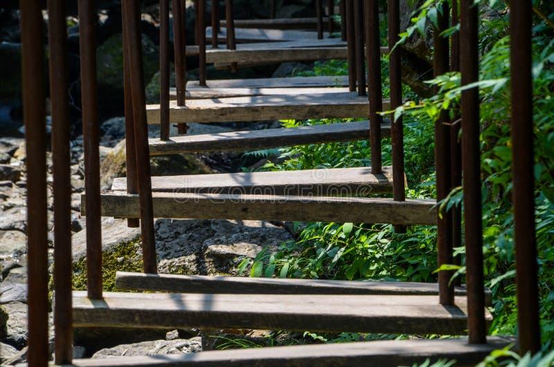 Escada para o curso de obstáculo foto de stock royalty free