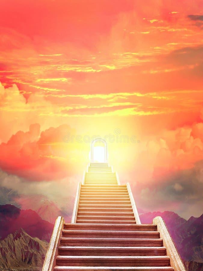 Escada que aumenta ao sol de aumentação imagem de stock