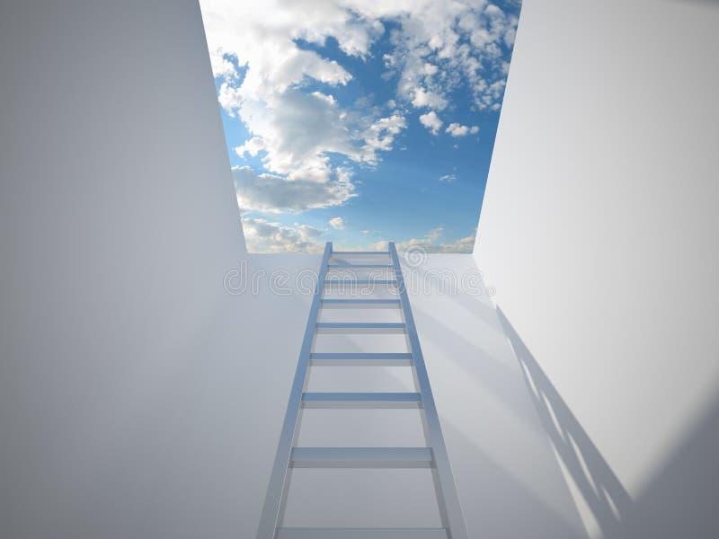 Escada que conduz à luz ilustração royalty free