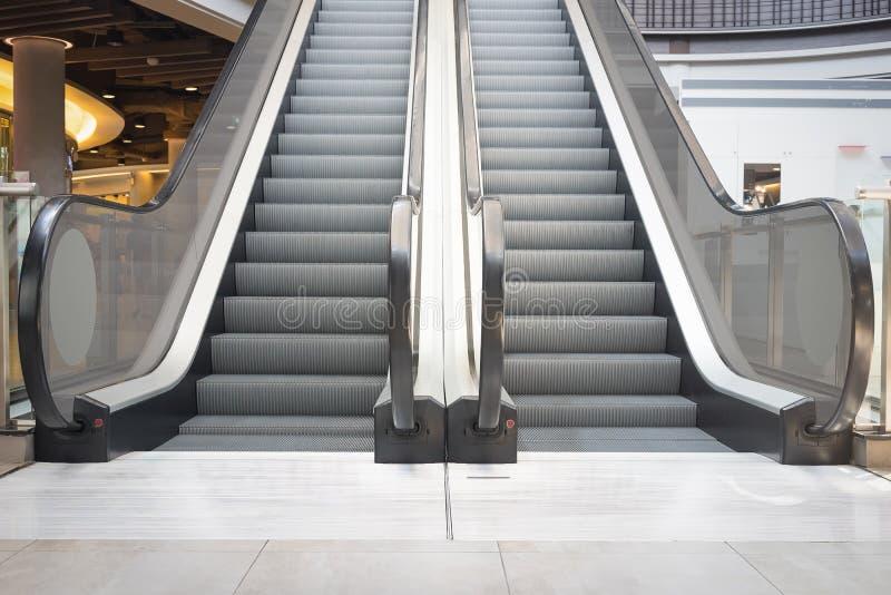 Escada rolante e assoalho foto de stock